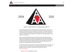 antiadvertisingagency antiadvertisingagencycom the anti advertising agency anti advertising agency office