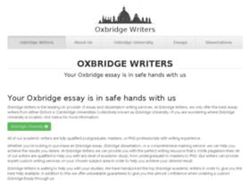 Oxbridge writers